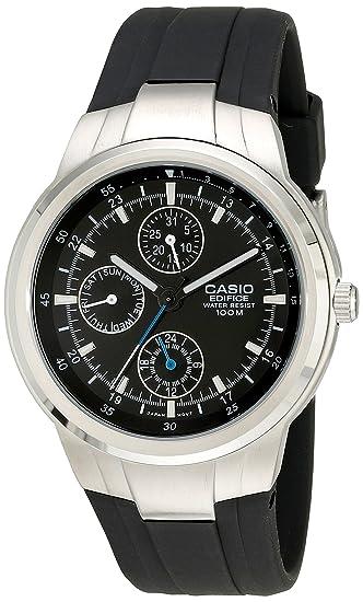 8cb41de8575d Casio EF305-1AV Edifice - Reloj multifunción con correa de resina negra