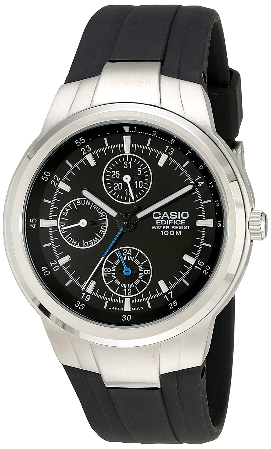 Casio Men s EF305-1AV Edifice Multifunction Watch With Black Resin Band