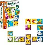 Diset- Dominó Animales y Puntos 3 años Juguete educativos Animals (68956)