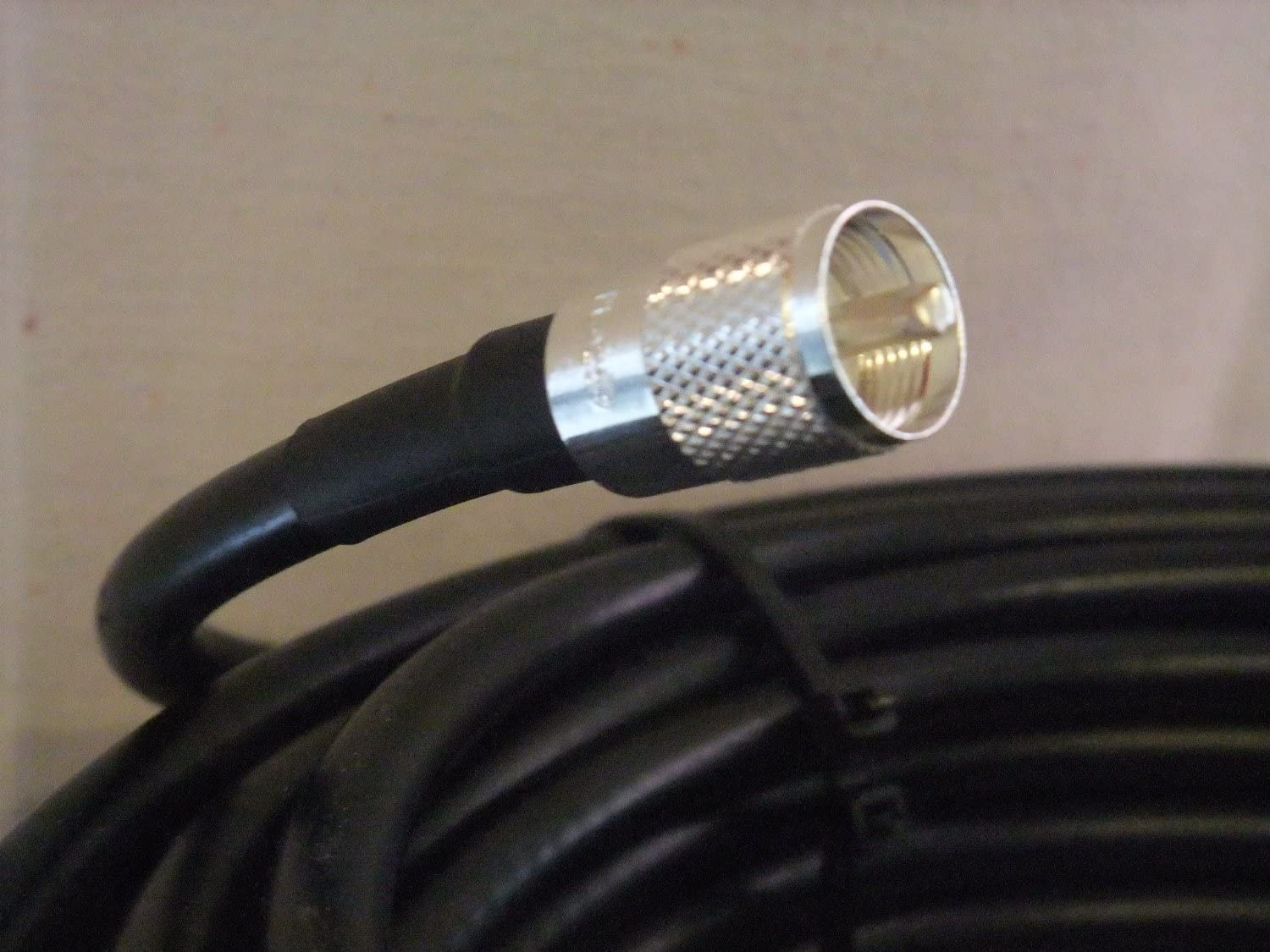 MPD Digital RG8U-UHF-125 Made in The USA RG-8U Non Contaminating RG8u UL Listed Coaxial Antenna Cable RG213 Copper Braid HF VHF RF with PL-259 UHF Male Connectors 125 ft