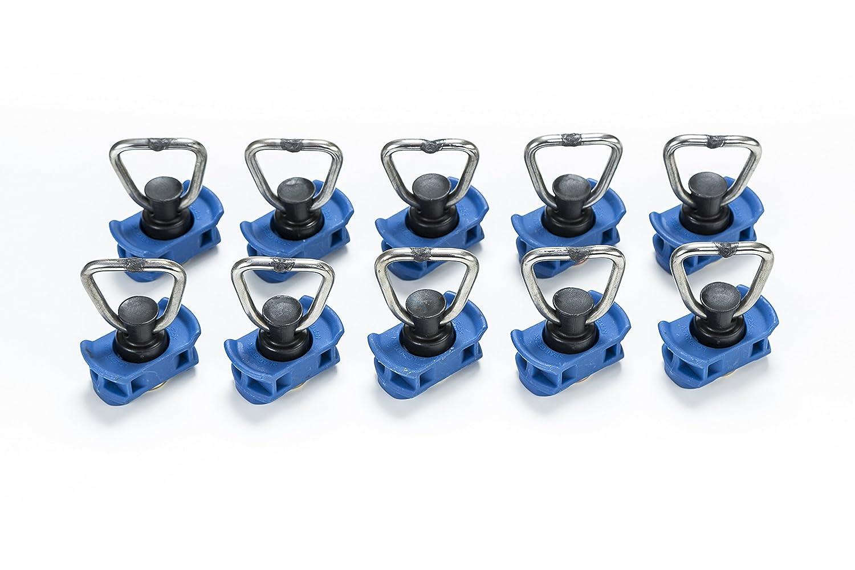 Punto de anclaje simple para rieles de aviones, 10 unidades, carga de rotura 1,000 daN, versió n 3.0 versión 3.0 LaSi24 GmbH