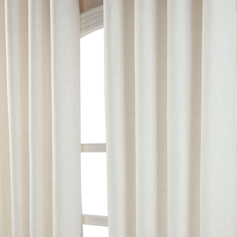 Homescapes Moderner Vorhang Leinenoptik Natur Natur Natur L 182 x B 228 cm Ösenvorhang Fertiggardinen Blickdichte Vorhänge mit Ösen 2 Stück 0158f6