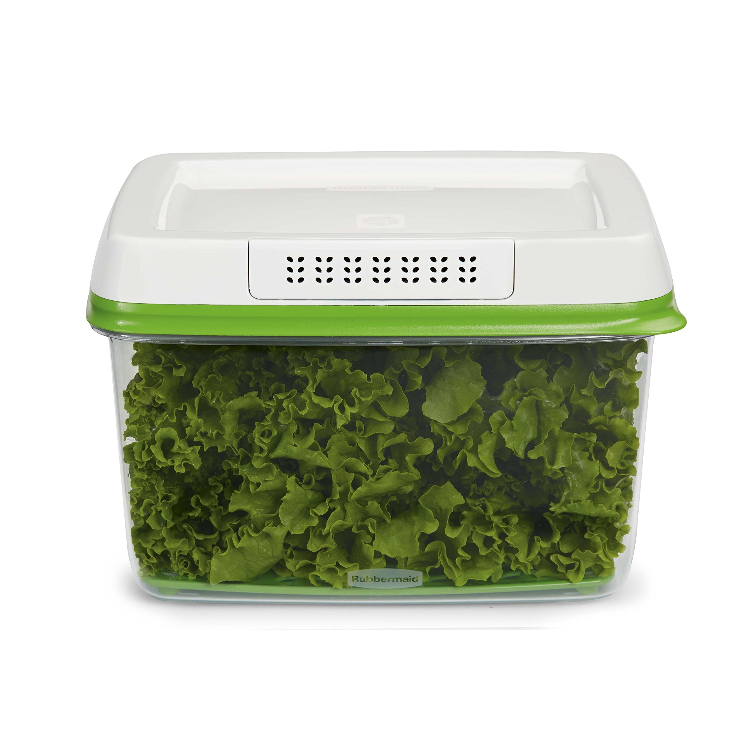 Rubbermaid FreshWorks Produce Saver Food Storage Container, Large, 17.3 Cup, Green 1920479 by Rubbermaid
