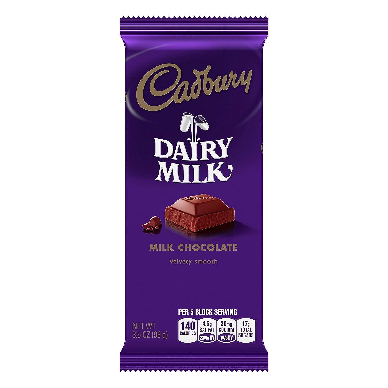 Cadbury Milk Chocolate Candy, 3.5 Ounce, Full Size Bars, 14 Count
