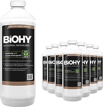 BiOHY Descalcificador universal (9 botellas de 1 litro) | Concentrado para 20 procesos de descalcificación| Compatible con cafeteras, como DELONGHI, PHILIPS (Universal Entkalker): Amazon.es: Salud y cuidado personal