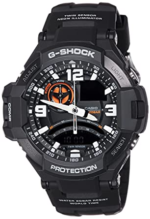 5c837a0f7ef3 Buy Casio G-Shock Analog Black Dial Men's Watch - GA-1000-1ADR (G435) Online  at Low Prices in India - Amazon.in