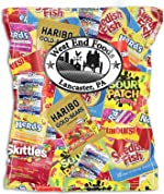 Candy Treats (2 pounds) of Individually Wrapped Candy: Skittles, Starburst, Swedish