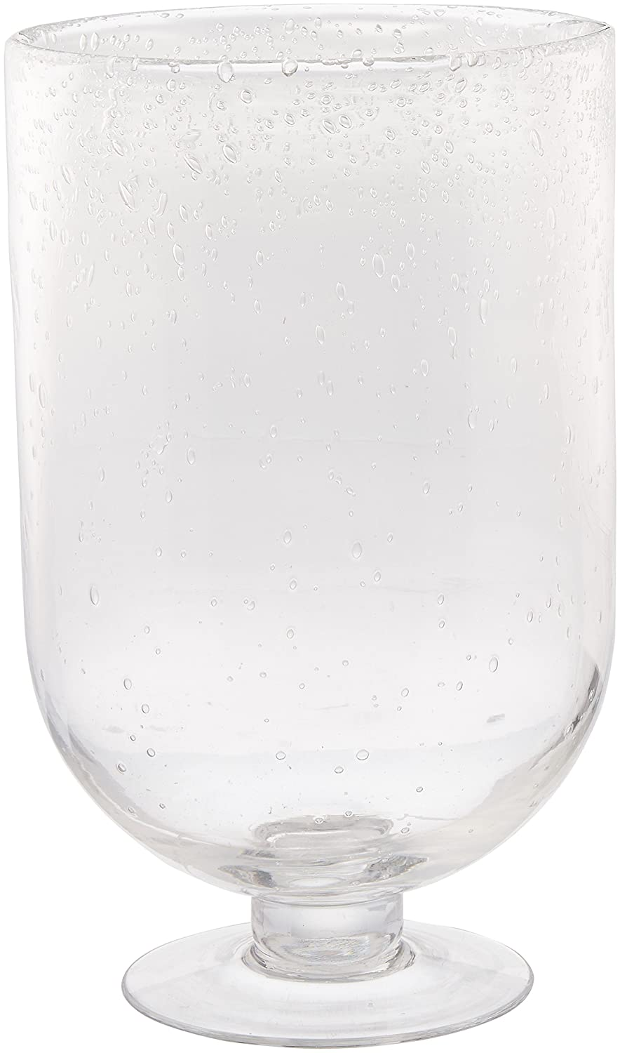 Abbott Collection Home Small Seed Glass Footed Hurricane JIHCHI 27-RAIN/HURR SM