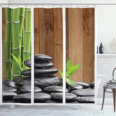 RQPPY Zen Tenda Doccia Anelli per Bagno Divertente Decorazione Bagno Poliestere Bianco 120 x 200 cm