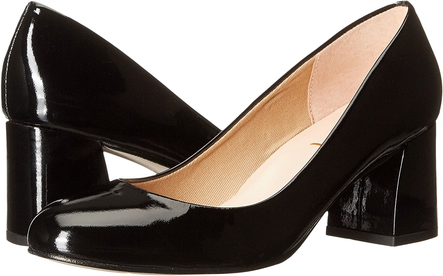 French Sole Womens Trance Suede Round Toe Classic Pumps B01LZ88JRQ 8.5 B(M) US|Black Patent Leather