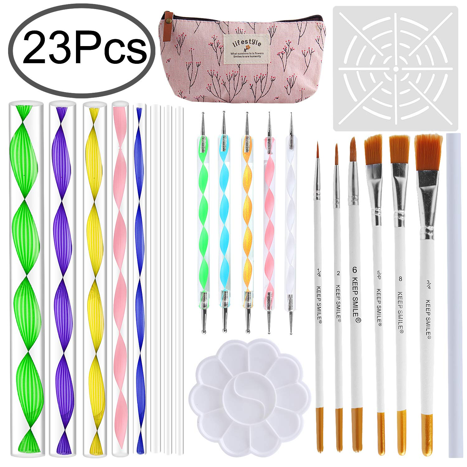 Outee Mandala Dotting Tools Mandala Painting Kit 23 Pcs Rock Dotting Tools Nail Art Dotting Rock Painting Tools Mandala Rock Painting for Drawing & Drafting, Crafts