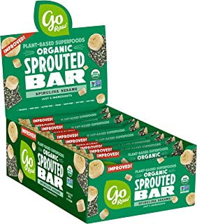product image for Go Raw Seed Bars, Spirulina Sesame | Gluten Free Snacks | Vegan | Organic | Paleo | Superfood (25 Large Bars)
