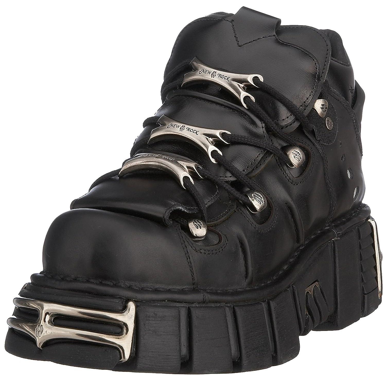 New Rock Mens M.106-S1 Tower Leather Boots B002XQ3B1E UK 4, UK 4|Black