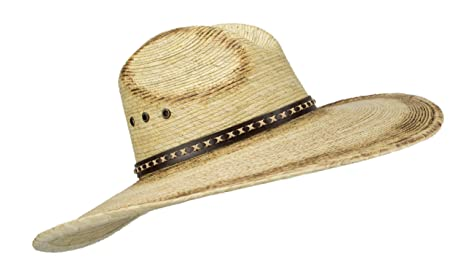 1a3838a4e910f Amazon.com  Large Mexican Palm Leaf Cowboy Hat