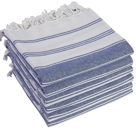 SET of 6 100/% Turkish Cotton Bath Beach Hammam Towel Peshtemal Throw Foua Set