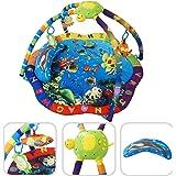 Alfombrilla sensorial para bebé – Alfombrilla de temática acuática con arcos y juguetes educativos