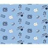 University of North Carolina Cotton Fabric, Blue & White - Sold By the Yard