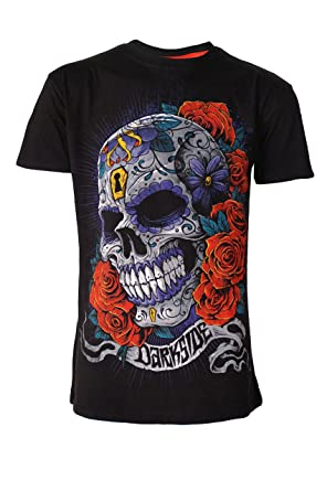 b39c2437e Mexican Sugar Skull Genuine Darkside Mens Day of The Dead T Shirt: Amazon.co .uk: Clothing