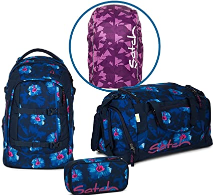 check-out ebc25 4f502 Satch Zaino per la scuola Set 4 pezzi Pack Waikiki Blue 9l2 ...