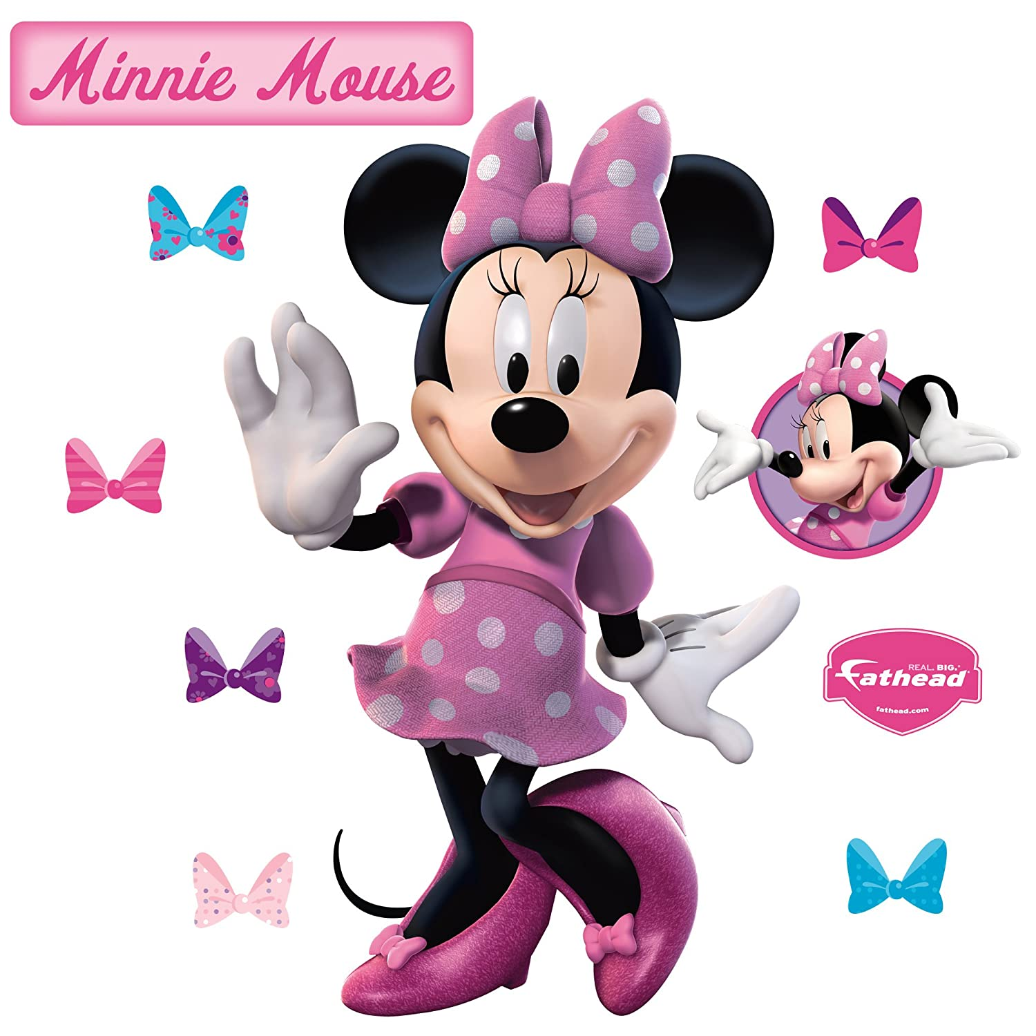 Fathead 74 74527 Wall Decal Minnie Mouse Amazon Home Kitchen