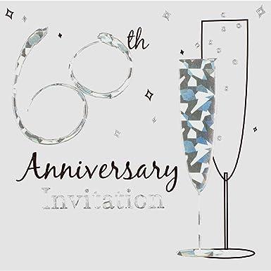 60th anniversary diamond wedding invites invitation amazon co uk