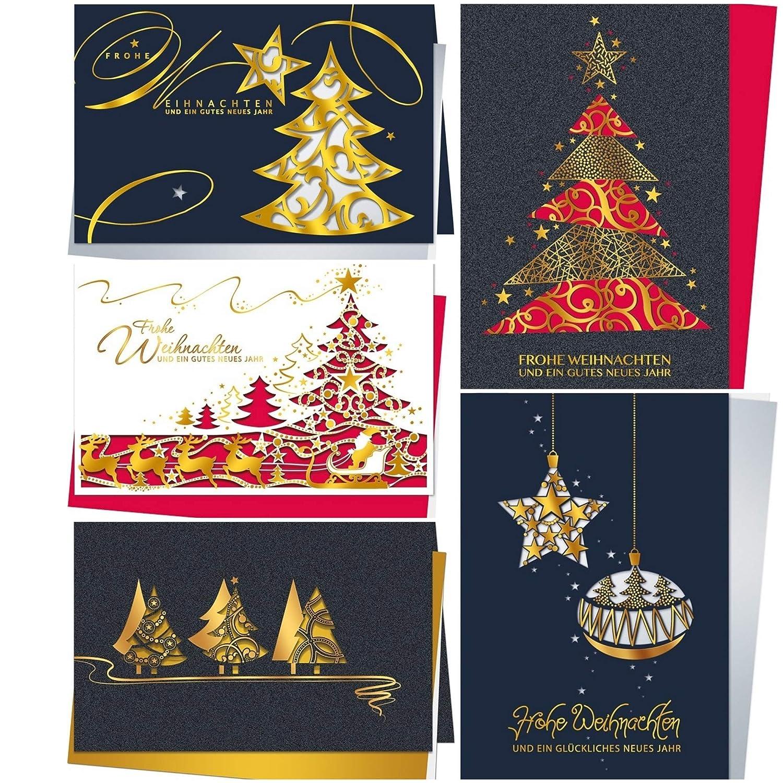 Weihnachtskarten Exklusiv.Möbel Wohnen Exklusive Weihnachtskarten Mit Umschlag Set