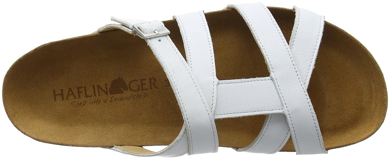 Haflinger Damen Sarah T-Spangen Weiß Sandalen, Weiß T-Spangen (Weiß 698) 16e9cd