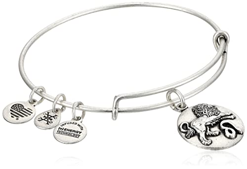 Alex and Ani Leo Rafaelian Silver Bangle Bracelet