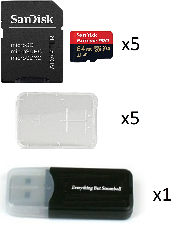 Amazon.com: SanDisk Extreme Pro de 64 GB (Cinco unidades) 4 ...