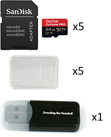 Amazon.com: SanDisk Extreme Pro de 64 GB (Cinco unidades) 4 ...