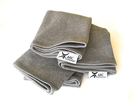ARC Yoga Hand Towel, Antimicrobial and Odorless, Sweat Absorbent. Multi-Purpose, Ideal for Hot Yoga, Pilates and More