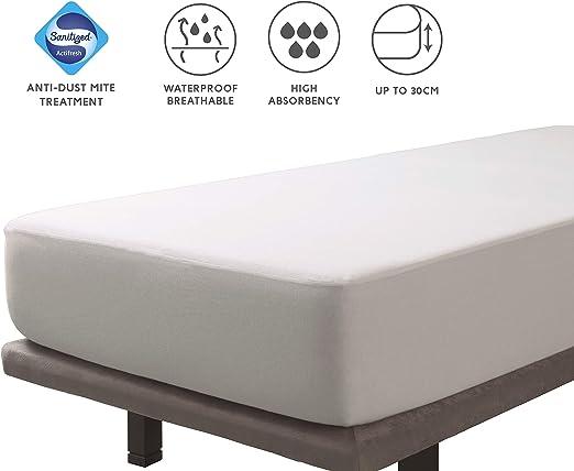 Tural – Protector de colchón Antiácaros Impermeable y Transpirable ...