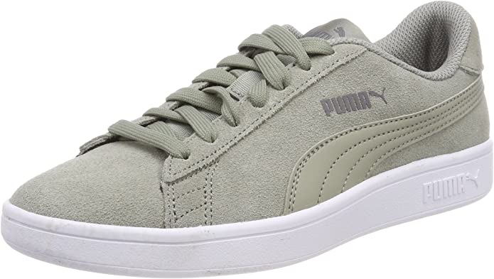 Puma Smash V2 Sneakers Unisex Damen Herren Grau Rock Ridge/Weiß