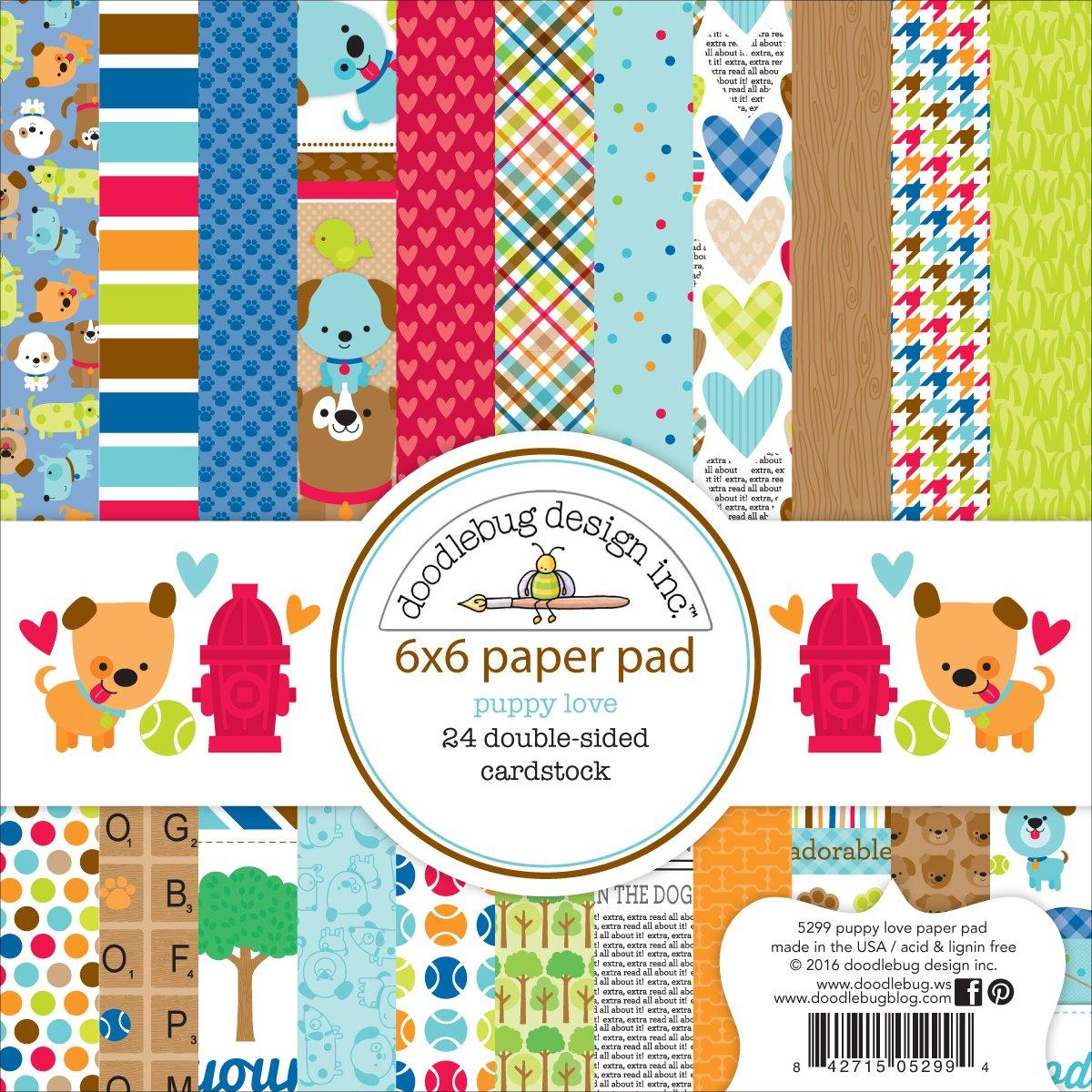 Doodlebug Doppelseitiges Papier Pad 6/x 6/2 Mehrfarbig