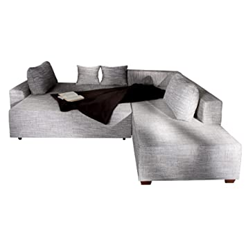 Invicta Interior Design Ecksofa Apartment Strukturstoff Grau