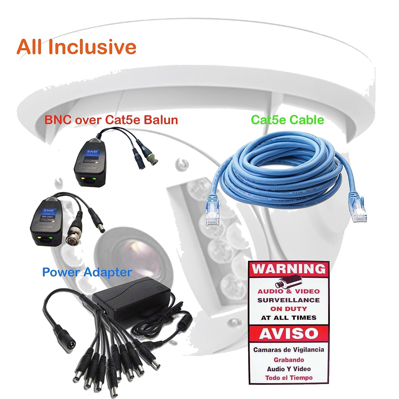 Amazon.com : 7 Tronic Security Cameras CCTV System 4CH Standalone DVR HDMI (Supports WiFi) 4 Domes 1000TVL Sony 2x36IR & 2x24IR : Camera & Photo