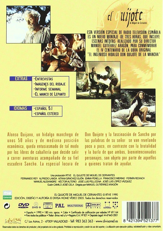 El Quijote - Version Especial (F.Rey) [DVD]: Amazon.es: Varios: Cine y Series TV