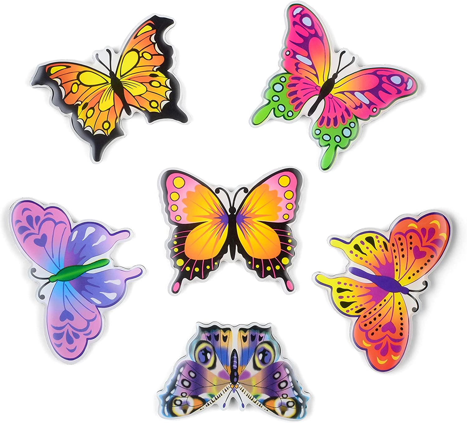 MORCART Fridge Magnets 6 Animals Photo Frame for kids,Strong Decorative Magnets for Dishwasher (butterfly)