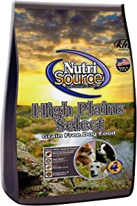 NutriSource High Plains Select Grain-Free Beef and Trout Dog Food 5 Pound Bag