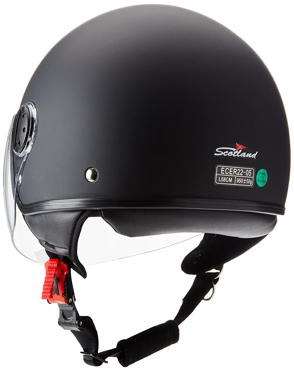 Taglia XL Nero Opaco Scotland 100041flash Casco Moto