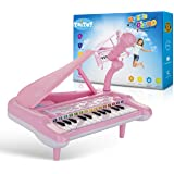 TaiToy Mini Keyboard Piano Toy for Toddlers with Karaoke Microphone, Electric Baby Grand Piano, Music Instruments for…