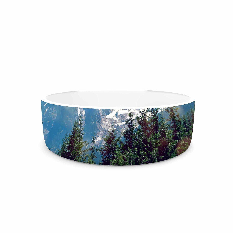 KESS InHouse Robin Dickinson The Dream bluee Green Photography Pet Bowl, 7  Diameter