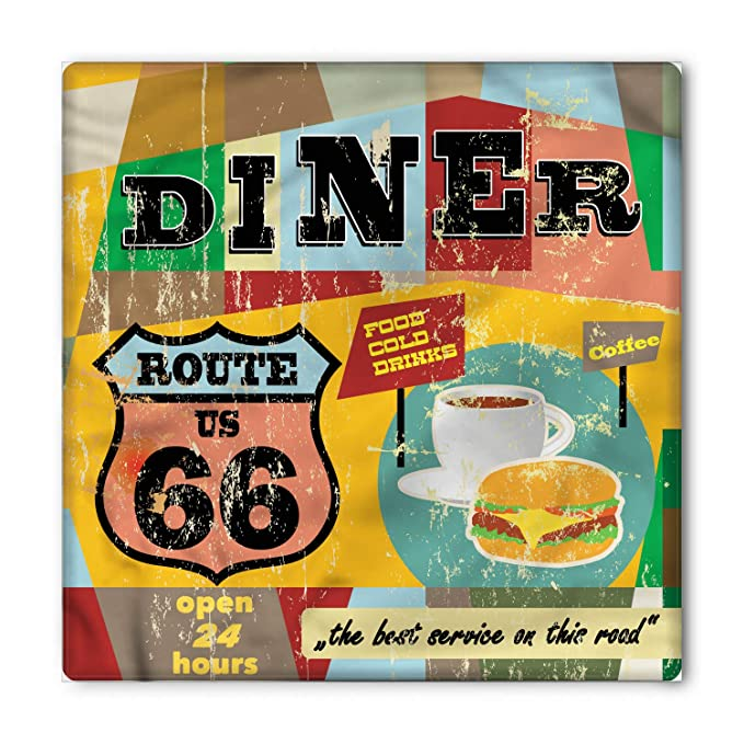 Amazon.com: Lunarable Route 66 Bandana, cartel de cena ...