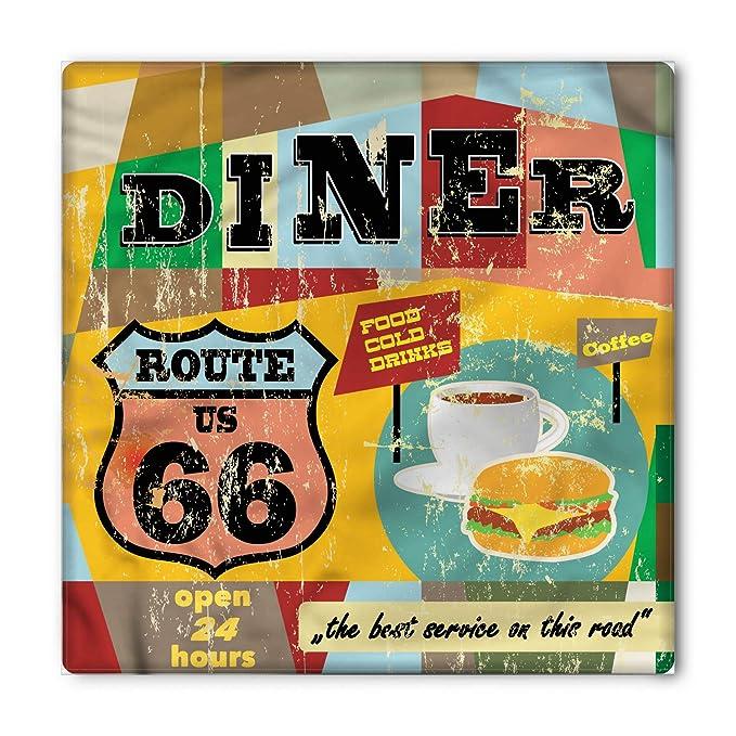 Amazon.com: Lunarable Route 66 Bandana, cartel de cena ...