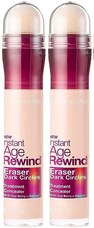 Maybelline Instant Age Rewind Eraser Dark Circles Treatment Concealer,  Fair, 2 COUNT