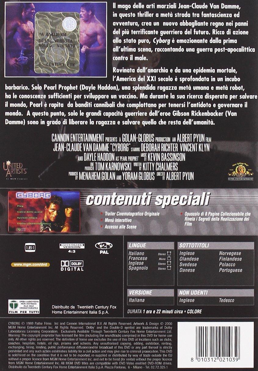 Cyborg (1989) [Italia] [DVD]: Amazon.es: Dayle Haddon ...
