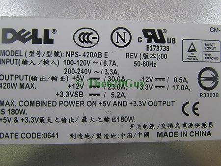 Renewed Dell 0T9449 420 Watt Power Supply for PowerEdge 800