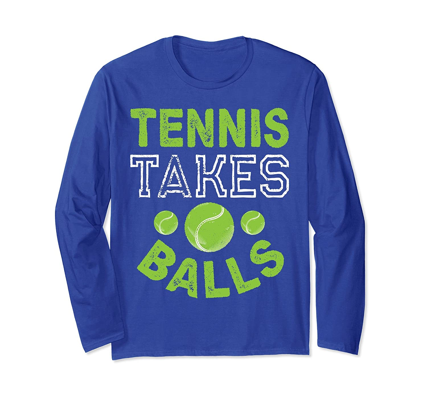 Tennis Takes Balls T shirt Men Player Coach Funny Sports Tee-mt
