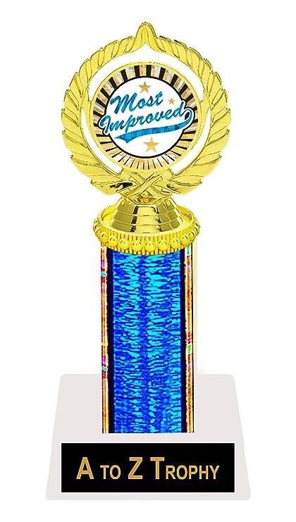 amazon com most improved trophy awards 9 academic achievement