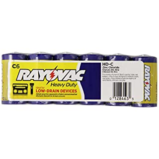 Rayovac Heavy Duty Batteries, Size C,  HD-CD, 6-Pack